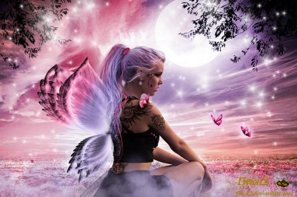 Butterfly lady desktop background 518457